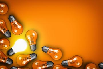 Idea concept with bulbs