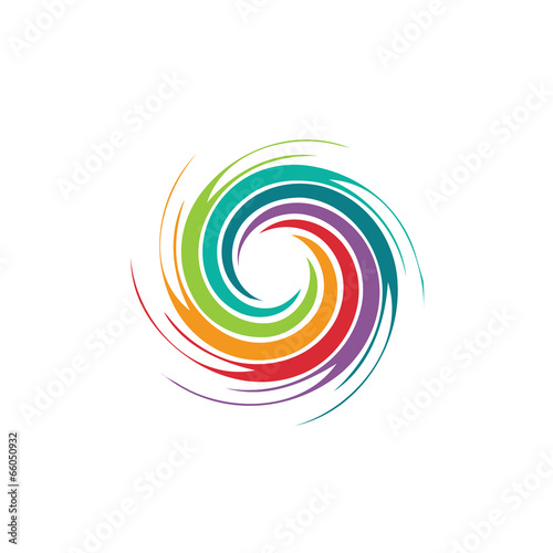Abstract colorful swirl image. Concept of hurricane - 66050932