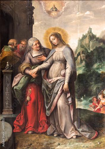 Leinwandbild Motiv Antwerp - The Visitation of Virgin Mary to Elizabeth by Francken