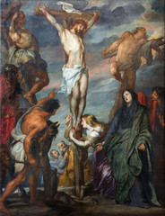 Mechelen - Paint of Crucifixion by Anton Van Dyck