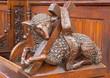 Bratislava - Agnus Dei carved sculpture in st. Matins cathedral