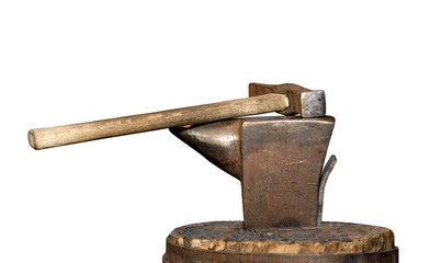 vintage hammer and the anvil