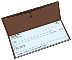 Leather checkbook
