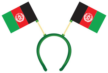 Afghanistan flag on the headdress
