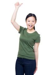Happy girl thumb up