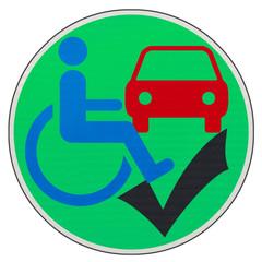 concept accessibilité des voitures aux handicapés