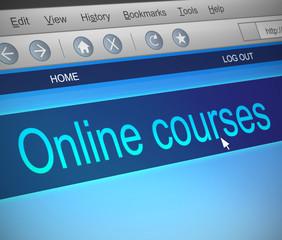 Online courses concept.