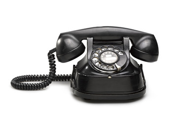 Office: old and vintage telephone Black