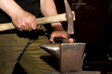 ancient forging hammer and anvil
