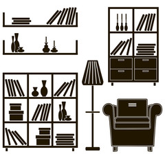 living room furniture icons 6
