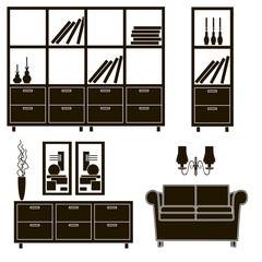 living room furniture icons 4