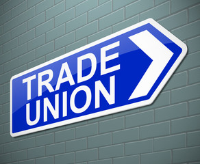 Trade union concept.