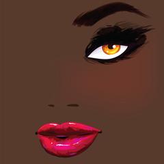 Beautiful african female portrait