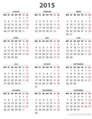 Kalender. 2015, 16 BL, Hochformat
