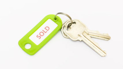 Isolated keys with Sold tag.