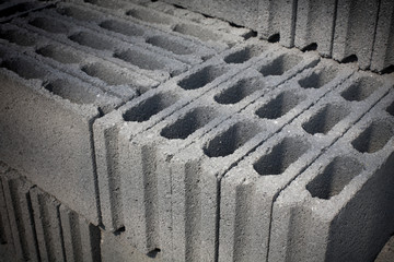 Cement blocks prepared for construction