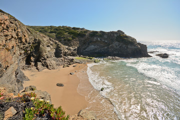 Praia de Odeceixe bay, West Coast Beach, Algarve Portugal