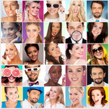 Collage of Faces of Different People