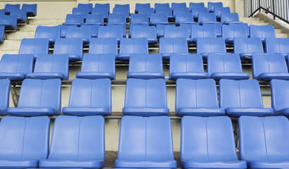 blue seat on sport stadium