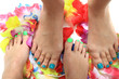 womens legs with nice nails (pedicure)