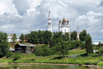 Trinity cathedral in Verkhoturye, Russia