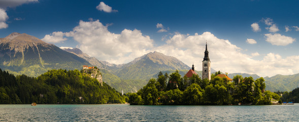 Lake Bled, Island and Castle, Slovenia