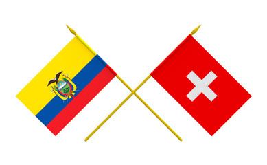 Flags, Ecuador and Switzerland