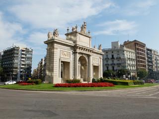Plaza de la Puerta del Mar. Valencia, Spain