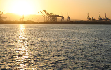 Port of Long Beach Sunset