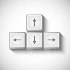 vector arrows buttons keyboard