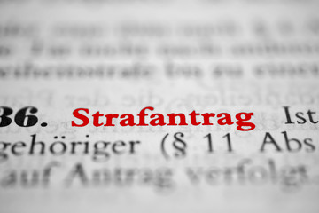 Strafantrag - roter Text