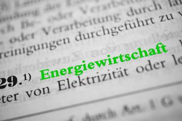 Energiewirtschaft - grün