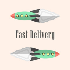 fast delivery concept with rockets