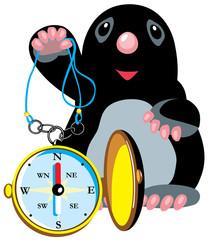 mole holding compass