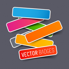 Vector sticker collection