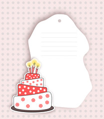 Birthday invitation card  in red