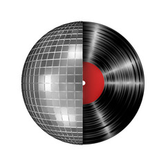 Disco ball vinyl record