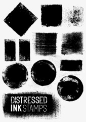 Distressed Vector Paint Stains