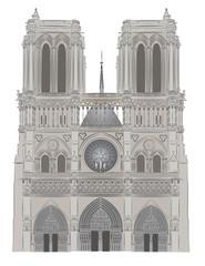 Notre Dame vector illustration
