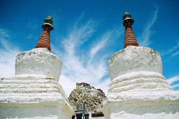 Tikse Gompa, a Buddhist monestary in Ladakh, India
