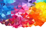 Geometric rainbow background poster