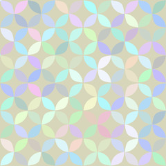 Geometrical pattern at light background