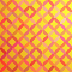 Geometrical pattern at orange background