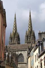 Kathedrale Saint-Corentin  von quimper, bretagne,