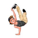 Funny breakdancer.