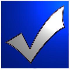 bouton case à cocher bleue