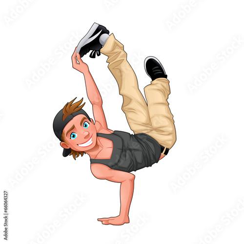 Funny breakdancer. - 66064327