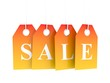 Hot sale tag on hot hanging labels. Summer sale
