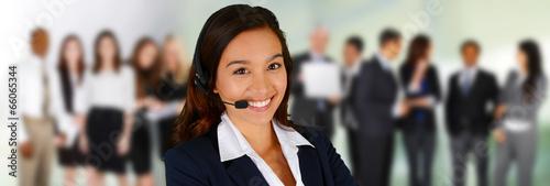Leinwanddruck Bild Customer Service