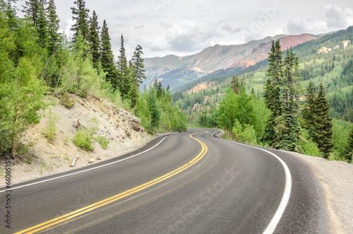Dangerous Winding Mountain Road